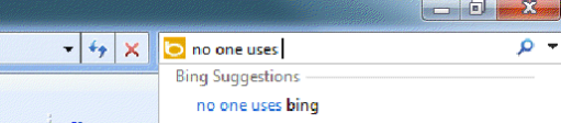 Reddit No one uses Bing