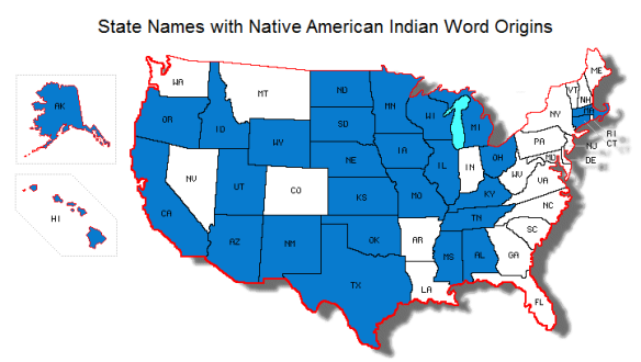States with Native American Indian Names
