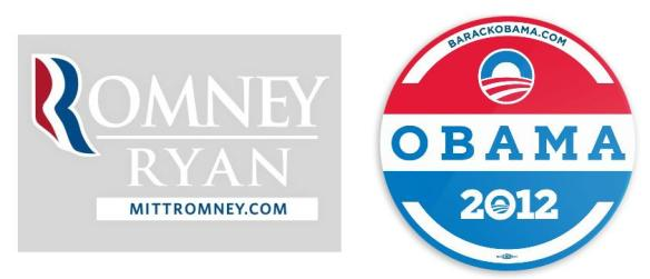 Evaluation - Obama Romney stickers